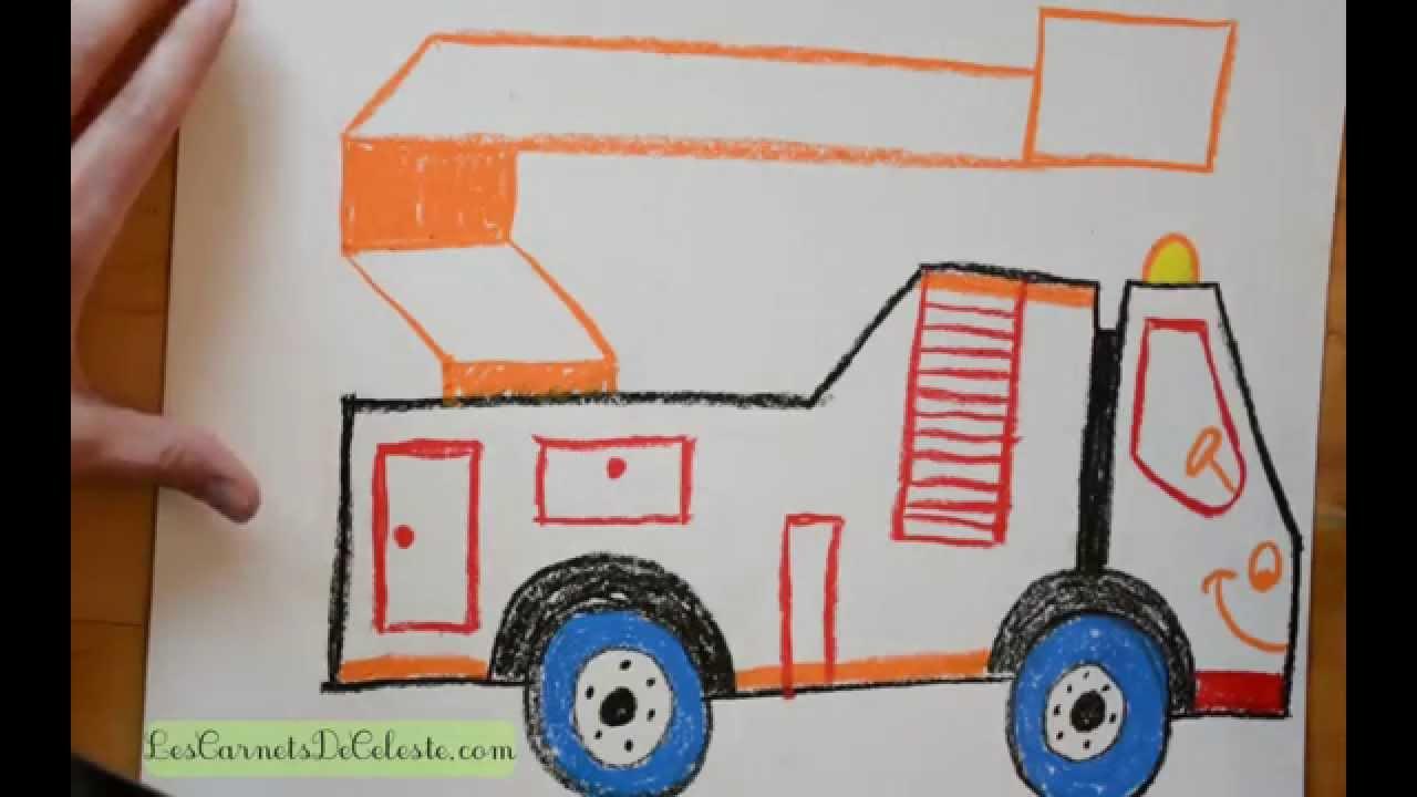 Comment dessiner un camion pompier
