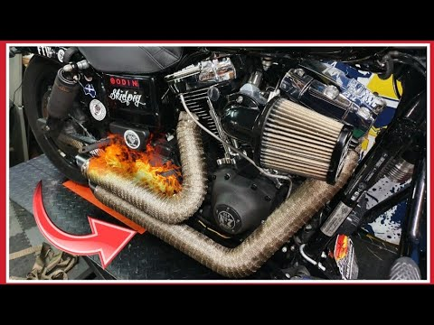 how to install exhaust wrap titanium exhaust wrap install on a harley davidson