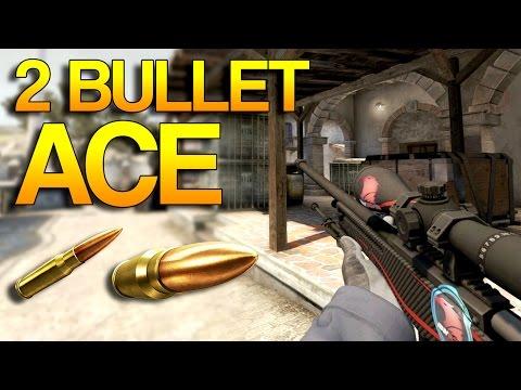 CS:GO - Ace in 2 BULLETS?!