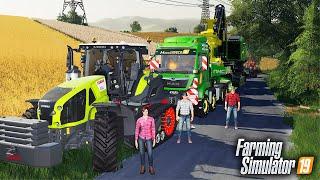 🔥 Transport Maszyn Leśnych z Ekipą 🦹♀️👨🏼🌾 Rolnicy z Miasta 😍 Farming Simulator 19 🚜
