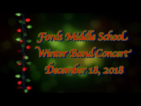 Fords Middle School Winter Band Concert: 2018