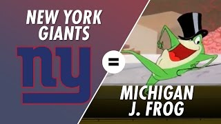 The New York Giants are Michigan J. Frog