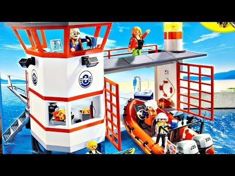 Coast Guard Station with Lighthouse / Straż Przybrzeżna z Latarnią - Playmobil - 5539 - Recenzja