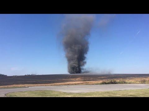 Tornado Forms From Field Fire    ViralHog
