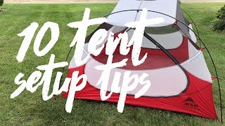 Top 10 Tips When Setting Up A Tent