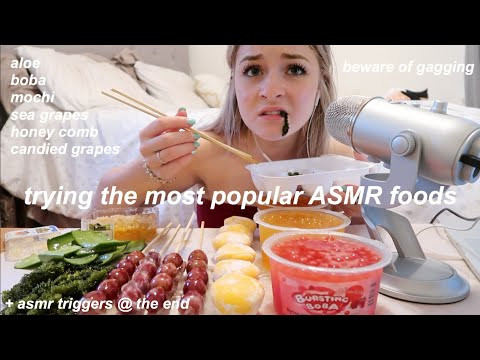 trying the most popular ASMR foods