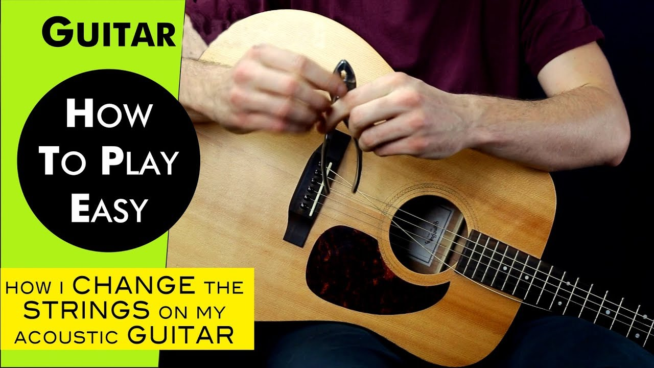 how i change the strings on my acoustic guitar youtube. Black Bedroom Furniture Sets. Home Design Ideas