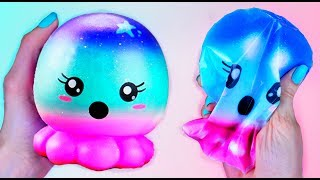 DIY PAPER SQUISHY / DIY Galaxy Squishy / How to make a squishy without foam or puffy paint