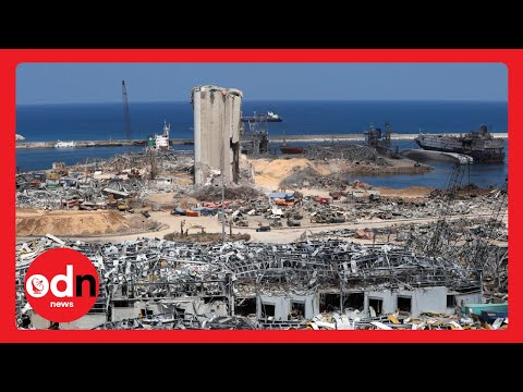 Dramatic Aerial Footage Shows Scale of Cleanup Operation in Beirut Port Area