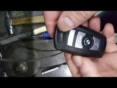 Как поменять батарейку в ключе бмв ф10