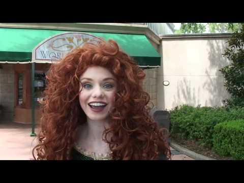 Merida Meet and Greet at Epcot, First Look at Princess From Disney Pixar Brave, Walt Disney World