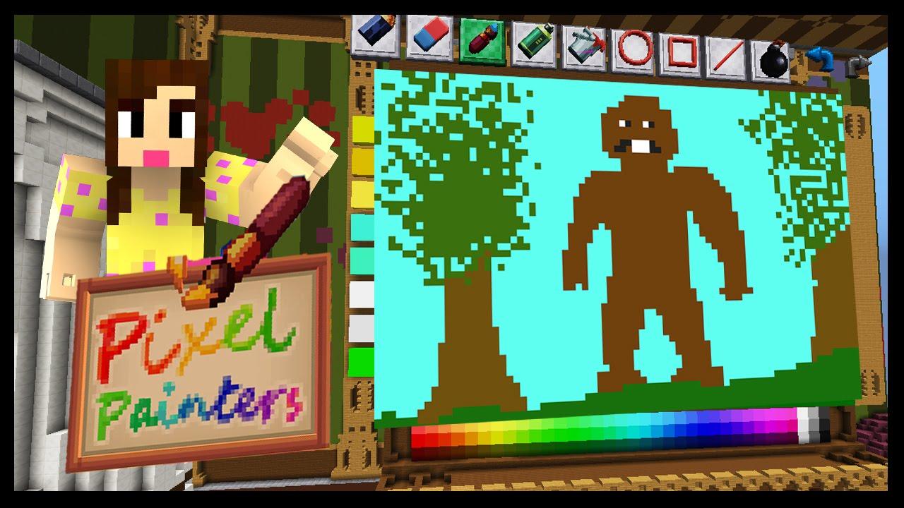 Chipmunk Bigfoot Pixel Painters Minecraft Mini Game Wbiggs87x