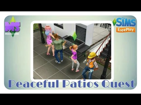 The Sims Freeplay – DIY Homes: Peaceful Patios Quest
