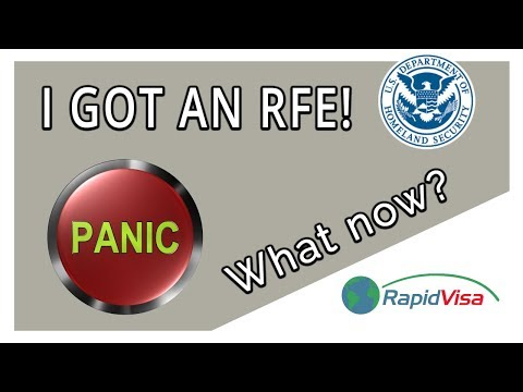 I Got an RFE (Request for Evidence)! Should I Panic?
