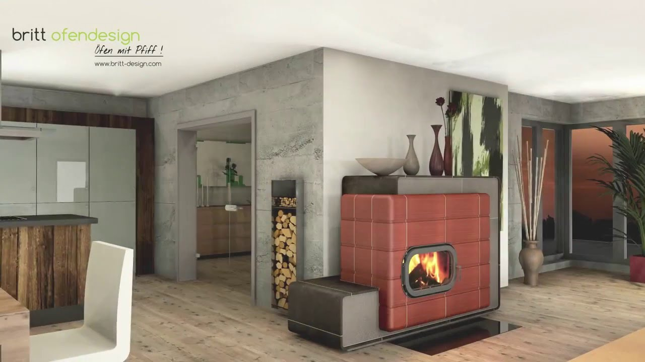 040 britt ofendesign fireplacedesign kachelofen modern tiled stove contemporary youtube. Black Bedroom Furniture Sets. Home Design Ideas