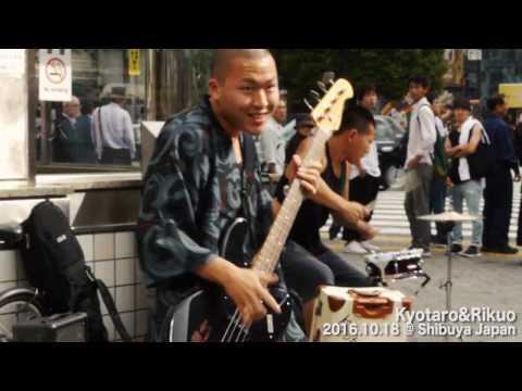 Kyotaro & Rikuo @ Shibuya Japan / 渋谷TSUTAYA前ストリートライブ 渋谷・原宿に出没する男前2人組バンド