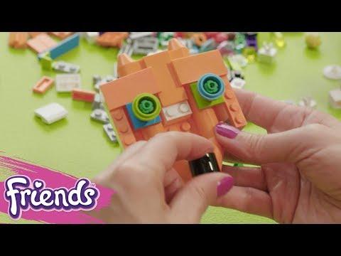 Lets Decorate Mias Backpack!  LEGO Friends  Life Hacks