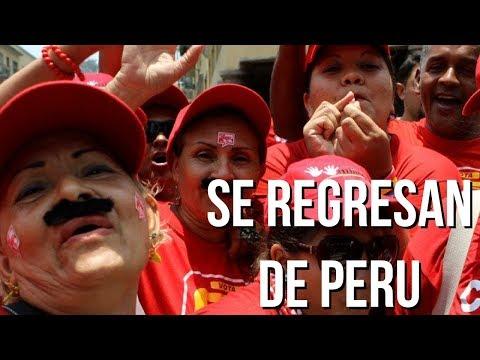 CHAVISTAS QUE EMIGRARON A PERU SE REGRESAN A VENEZUELA