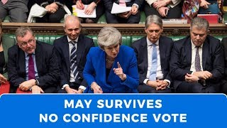 May survives 'no confidence' vote as UK moves towards March 29 deadline or Article 50 extension