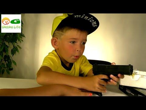 Детский пистолет. Обзор игрушек: Игрушки для мальчиков. Детское оружие.