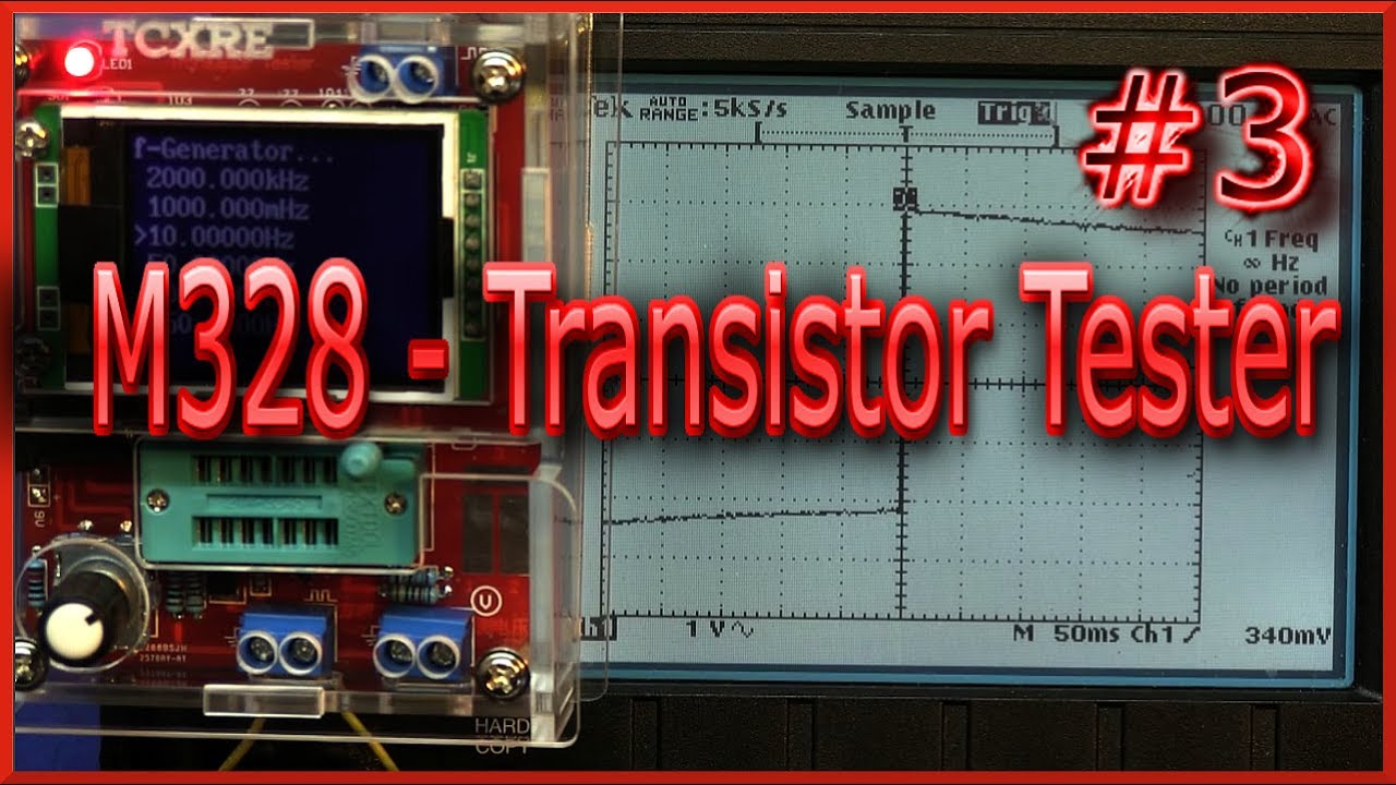 M328 Transistor Tester 3 J Rpm Youtube Led Circuito Basado Probador De Transistores