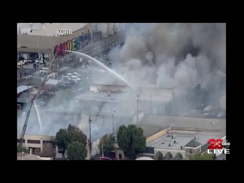 Watch Live: Crews battle 2 large fires in  Modesto, California