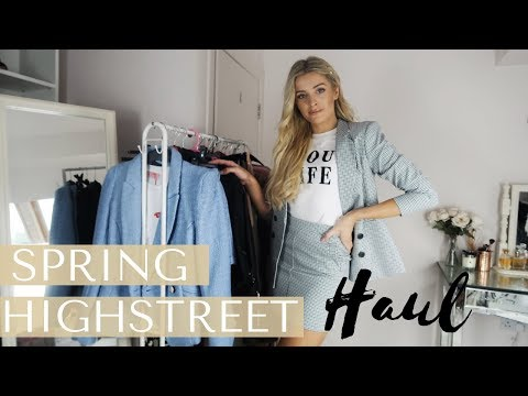 SPRING HIGHSTREET HAUL & TRY ON | ZARA, H&M, RIVER ISLAND, & MORE