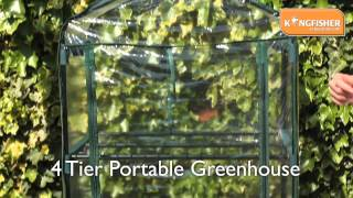 Kingfisher 4 Tier Portable Greehouse