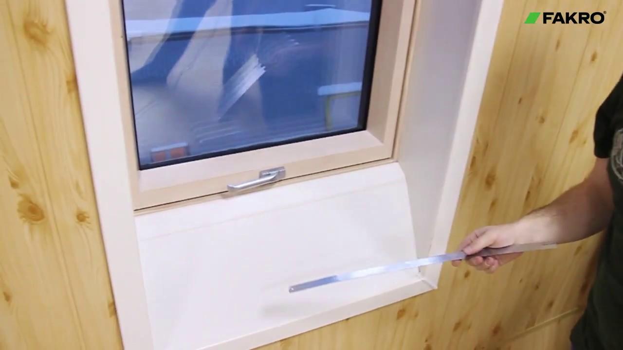 Как сделать откос мансардного окна