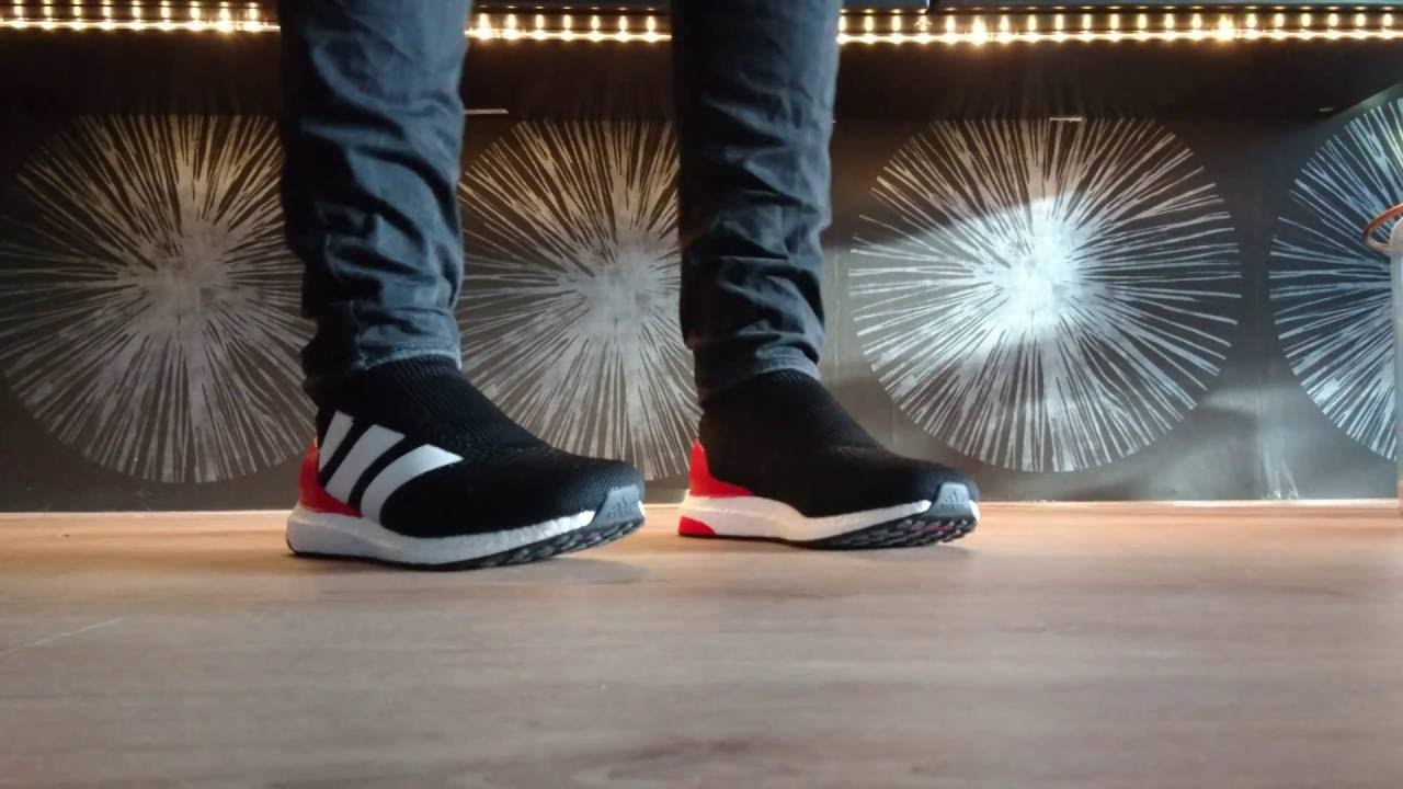 af83a4b068f1c ACE 16+ PURECONTROL ULTRA BOOST RED LIMIT - YouTube