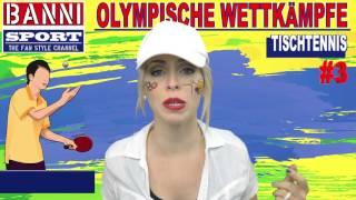 Tischtennis Table Tennis Tenis de Mesa #3 - Olympic Wettkampf - Original Banni Sport Fan Style