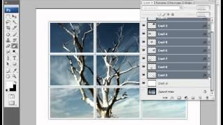Эффект пазла [видео урок Photoshop](Красивый эффект, в котором картинка делиться не несколько равных частей. Каждая часть трансформируется..., 2012-04-25T23:08:18.000Z)