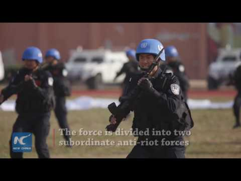 Harsh training for China's first standby peacekeeping police force