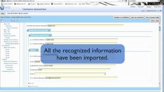 MDweb : Import an XML metadata file