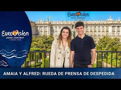 Amaia y Alfred, rumbo a Lisboa : rueda de prensa desde el Teatro Real