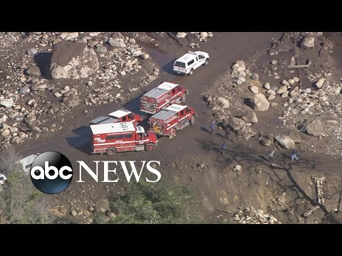 More than a dozen still missing in California mudslides