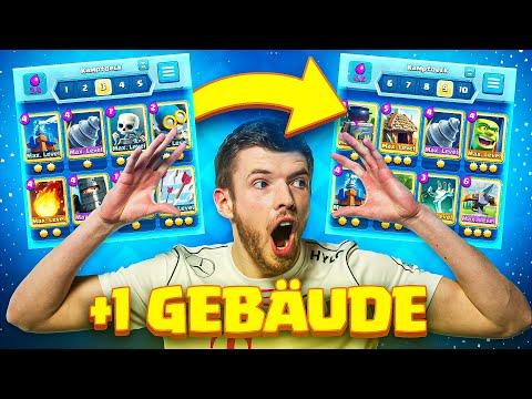 😨Immer wenn ich GEWINNE, kommt ein GEBÄUDE in mein DECK... (extrem schwer) | Clash Royale Deutsch