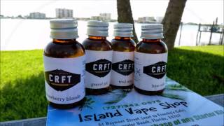Island Vape Shop Crft E-liquid, Lime Cola, Trail Mix, Strawberry Blonde And Gravel Pit.