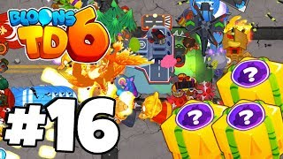INSTA TOWERS Vs HARD MODE CHALLENGE- Bloons Tower Defense 6 Part 15 (BTD 6 IOS/Android)