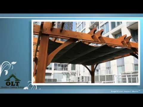 Cedar Pergola With Retractable Canopy Video From Outdoor Living Today