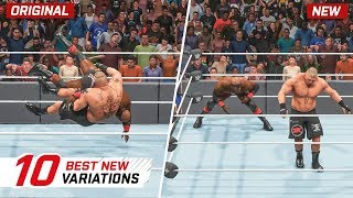 WWE 2K19 Top 10 New Moves Variations (Animations) #5   Titans Pack DLC