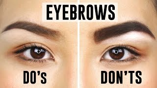 10 COMMON EYEBROW MISTAKES YOU COULD BE MAKING | Do