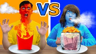 HOT vs COLD FOOD EATING CHALLENGE | FUN DIY PRANKS AND CHALLENGE BY CRAFTY HACKS