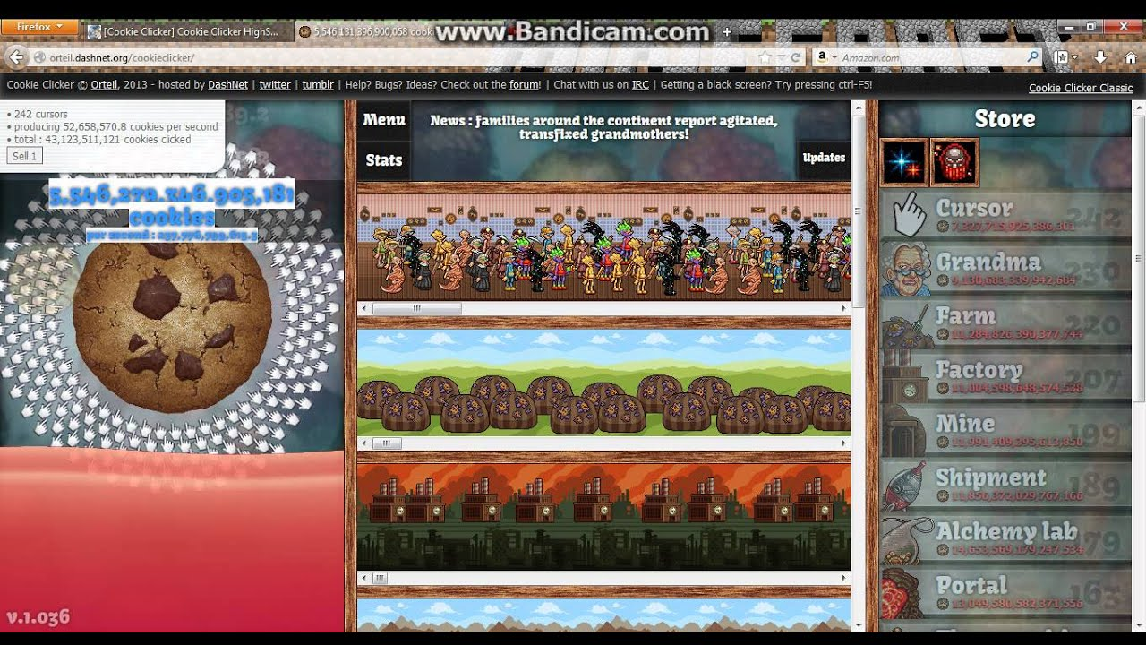 The best score on COOKIE CLICKER!