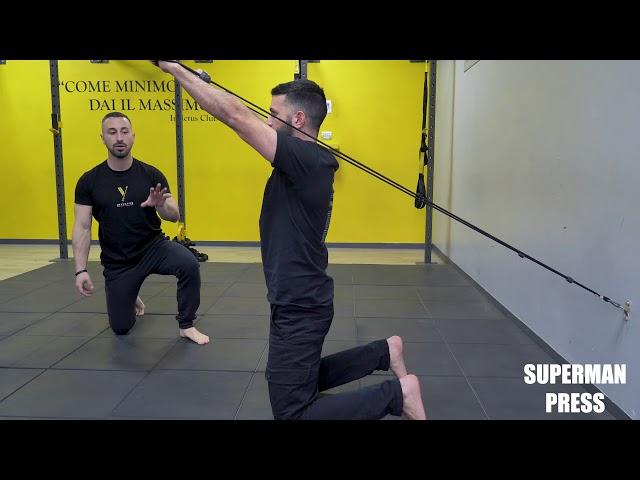Superman press. Esecuzione e tecnica