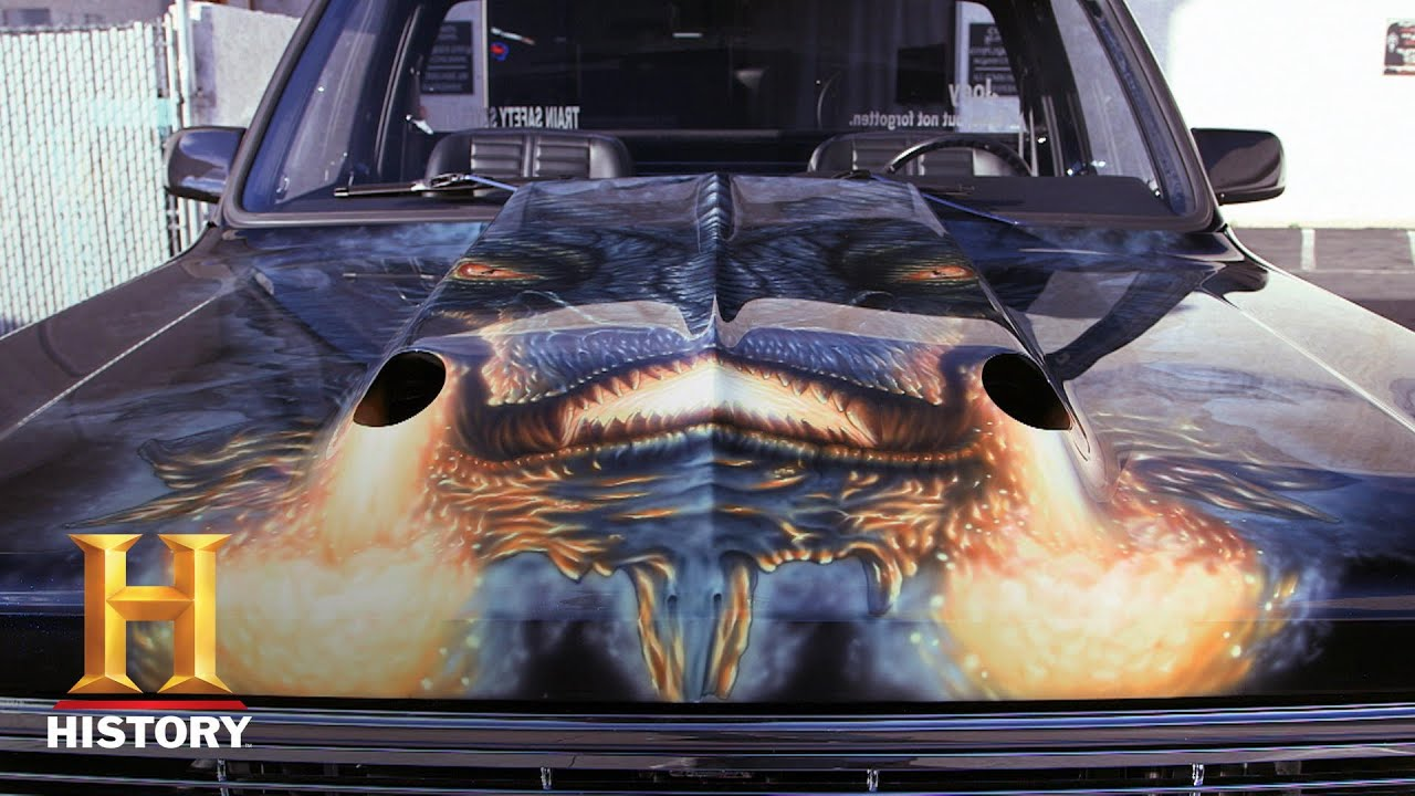 Counting Cars 1973 Gmc Truck Gets Epic Air Brush Season 9 History Youtube
