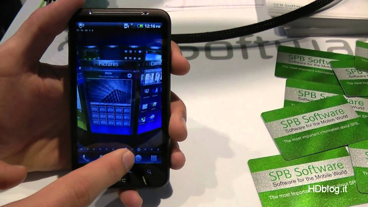 SPB Mobile Shell 5 on Desire HD Android @ MWC 2011