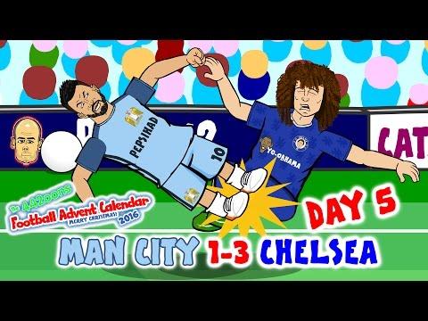 Man City 1-3 Chelsea 2016! Aguero kicks Luiz! Fernandinho attacks Fabregas! DAY 5 Advent Calendar