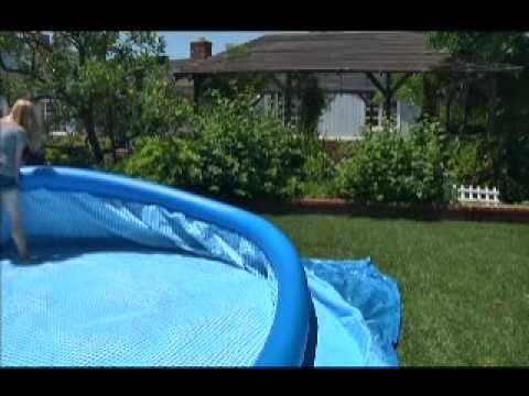 Каркасные бассейны надувные детские - YouTube