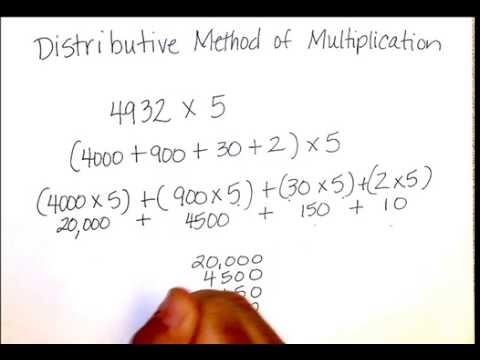 distributive method of multiplication youtube